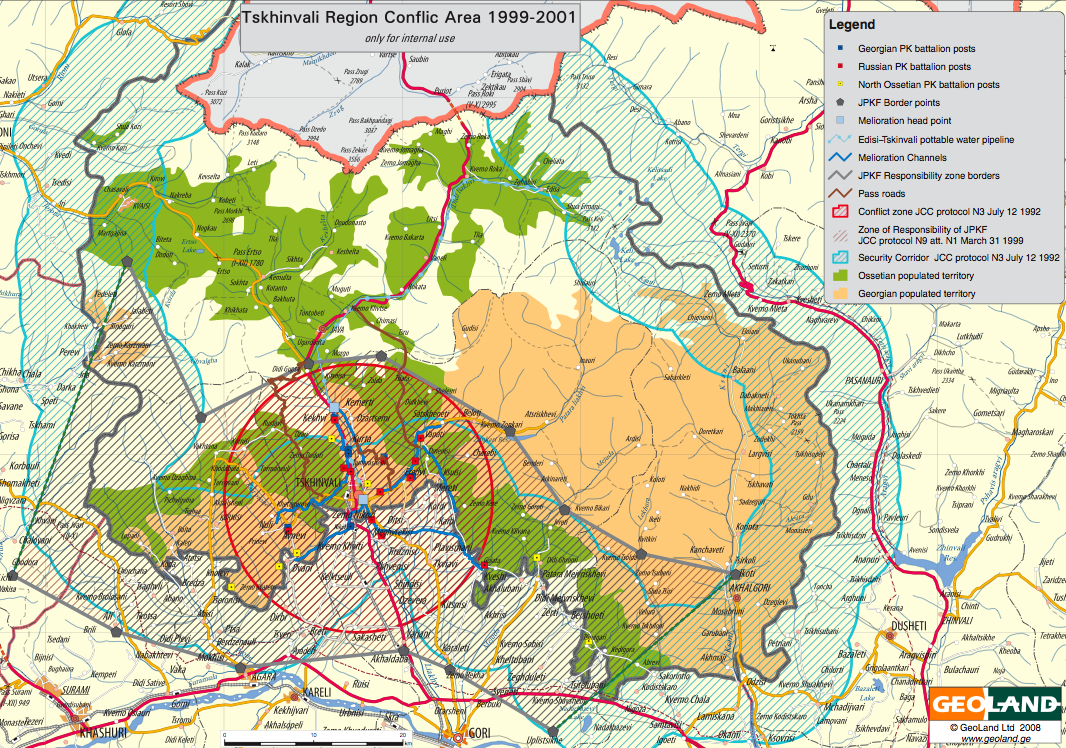 Map Of Georgia Pdf.New Detailed South Ossetia And Georgia Maps Irevolutions