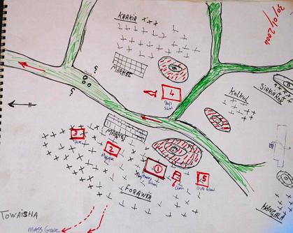 social map Sudan