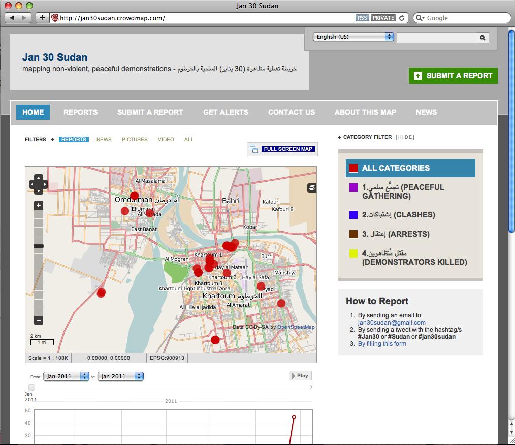 Crisis Mapping Sudan: Protest Map of Khartoum - Ushahidi on damascus map, lake victoria map, casablanca map, tripoli map, kinshasa map, jerusalem map, cairo map, amman map, meroe map, monrovia map, windhoek map, juba map, bujumbura map, addis ababa map, yerevan map, nairobi map, asmara eritrea map, riyadh map, pretoria map, brazzaville map,