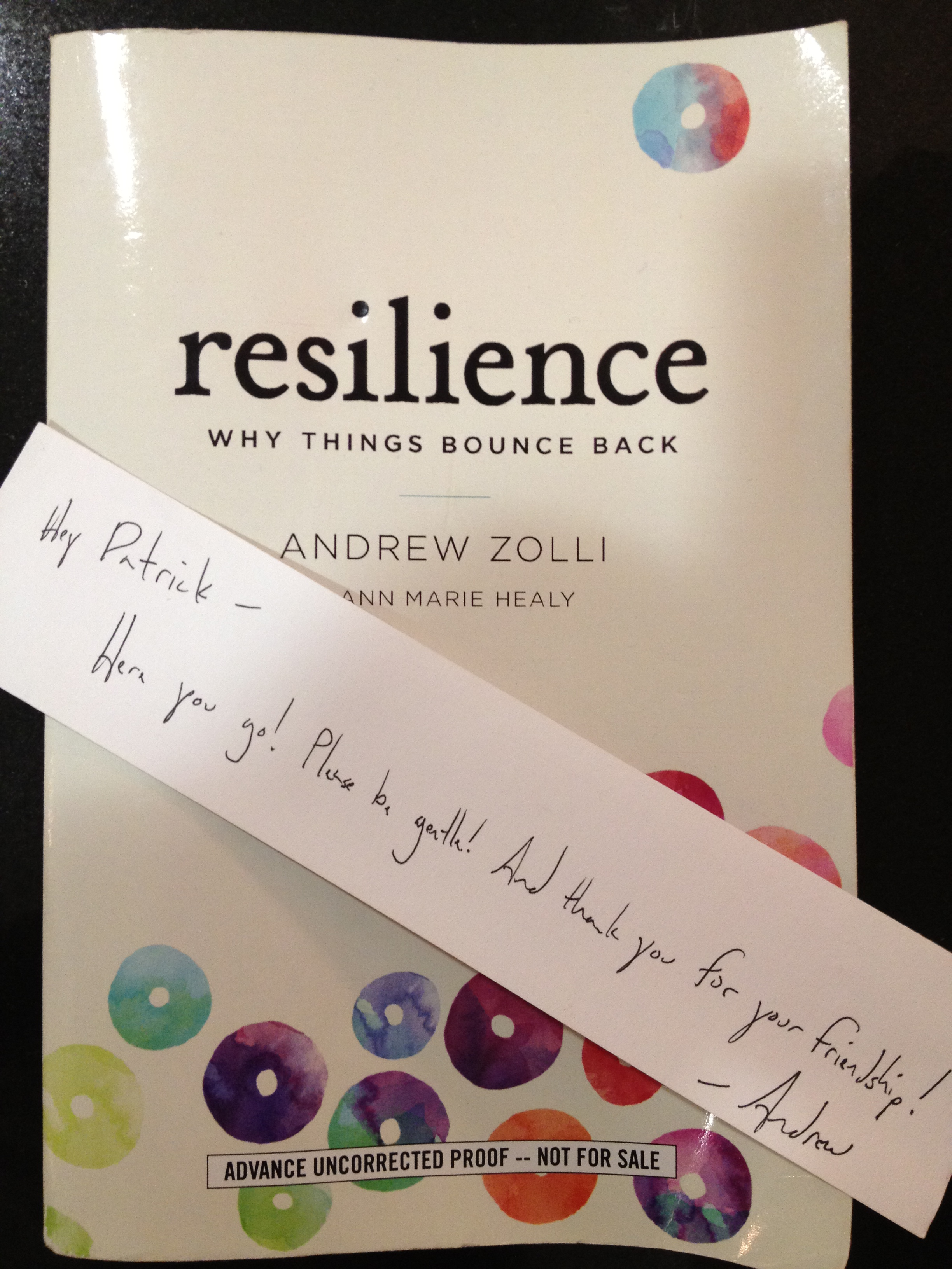 Resilience: Why Things Bounce Back