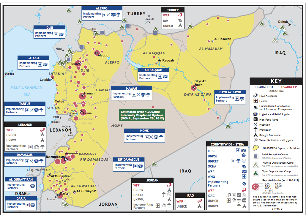 Why USAIDs Crisis Map Of Syria Is So Unique IRevolutions - Map of syria