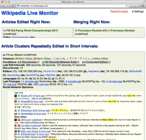 Wikipedia Live Monitor