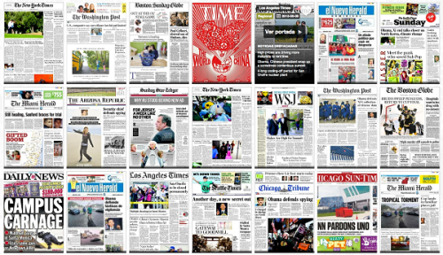 Newspaper-covers