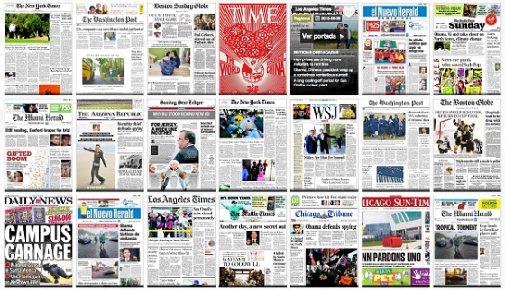 Newspaper-covers