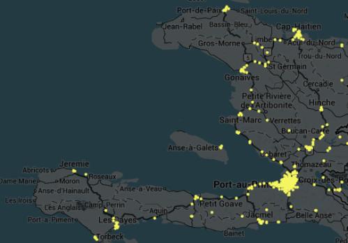 Haiti twitter map