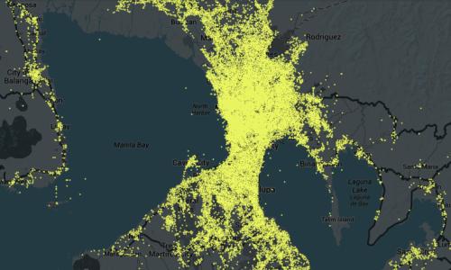 Manila twitter map